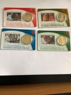 """Les 4 Pièces 50 Centimes """"Stamp&coincard""""  Vatican 2021  N°36 à 39   """" Rencontres Du Pape François   """" - Vatikan"""