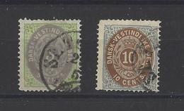 ANTILLES DANOISES. YT  N° 8-10  Obl   1873 - Dänemark (Antillen)