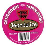 ETIQUETTE De FROMAGE..CAMEMBERT Fabriqué En NORMANDIE (Manche 50 AF)..Jeandelize..distribué Par ESF à BEAUNE (21) - Cheese