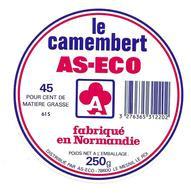 ETIQUETTE De FROMAGE..CAMEMBERT Fabriqué En NORMANDIE..AS-ECO - Cheese