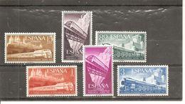 España/Spain-(MH/*) - Edifil  1232-37 - Yvert  921-26 - 1951-60 Neufs