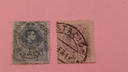 ESPAGNE - SPAIN - 2 Timbres 1910 : Histoire - Roi Alphonse XIII (Alfonso XIII) - Used Stamps