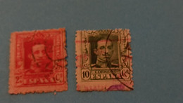 ESPAGNE - SPAIN - 2 Timbres 1922 : Histoire - Roi Alphonse XIII (Alfonso XIII) - Used Stamps