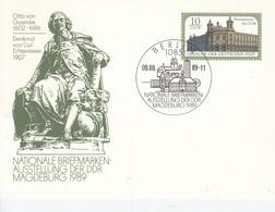DP 103 Nationale Briefmarken-Ausstellung Der DDR Magdeburg 1989, Berlin 1085 - Postkarten - Gebraucht