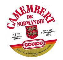 ETIQUETTE De FROMAGE. CAMEMBERT De NORMANDIE..Goulou.. Sté Laitière H. VALLEE Et Fils ( Calvados 14-AB) - Cheese