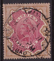 India Victoria  1895  2 Roupee Carmine And Brown Good Used - 1882-1901 Empire