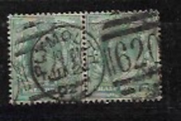 GB 1902 KEVll DEFINITIVE HALF PENCE PAIR WITH NICE PLYMOUTH CANCELLATION - Used Stamps
