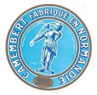 ETIQUETTE De FROMAGE..CAMEMBERT Fabriqué En NORMANDIE..LCPI à OSMANVILLE ( Calvados 14- AW) - Cheese