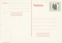 DP 107 II  Wertstempel Goethe-Schiller-Denkmal Mit Druckvermerk - Postkarten - Ungebraucht