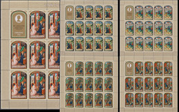 Cook Islands 30.10/03.12.1973 SHEETS Mi # 372-76, Christmas, Illustrations From Medieval Books MNH OG - Cookinseln