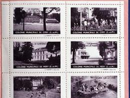 Asnières Colonie Vacances écoles Publiques Bloc Rare En Carnet 6 Vignettes**Touristique-☛Erinnophilie,stamp,Timbre,Label - Blocs & Carnets