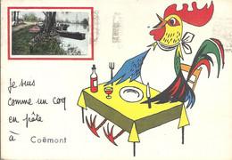 CPM Je Suis Comme Un Coq En Pâte à Coëmont - Chateau Du Loir