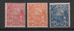 Nouvelle Calédonie - 1922-28 - N°Yv. 118 - 119 - 120 - 3 Valeurs Nouméa 30c / 30c / 50 - Neuf Luxe ** / MNH / Postfrisch - Ungebraucht