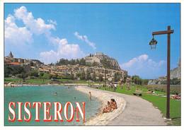 04 - Sisteron - Vue Sur La Ville Et La Citadelle Depuis Le Plan D'eau - Sisteron