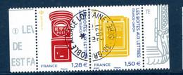 France 2021.Issu Du Bloc France-Japon Les Boites Aux Lettres .Cachet Rond Gomme D'origine - Souvenir Blocks