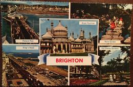 Cpsm, Multiview Brighton, écrite En 1963, Royaume-Uni, UK - Brighton