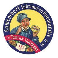"""ETIQUETTE De FROMAGE..CAMEMBERT Fabriqué En NORMANDIE..Le Fameux Normand"""". ( Calvados 14-U) - Cheese"""