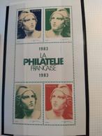 ERINNOPHILIE VIGNETTE France  Vignette La Philatélie Française 1983. Marianne De Gandon Neuve Sans Charnière - Autres