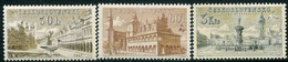 CZECHOSLOVAKIA 1954 Town Views MNH / **.  Michel 884-86 - Unused Stamps