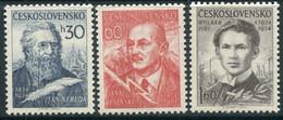 CZECHOSLOVAKIA 1954 Poets MNH / **.  Michel 881-83 - Unused Stamps