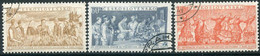 CZECHOSLOVAKIA 1954 Czech-Soviet Friendship Month Used.  Michel 878-80 - Used Stamps
