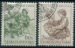 CZECHOSLOVAKIA 1954 Army Day Used.  Michel 876-77 - Used Stamps