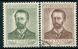 CZECHOSLOVAKIA 1954 Chekhov Anniversary Used.  Michel 871-72 - Used Stamps