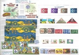 BOY SCOUT **1957/2003 VARIE NAZIONI (vedi Descrizione) : 13 SERIE COMPLETE Anche Con FOGLIETTI E TETE BECHE - Unused Stamps