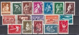 Bulgaria 1959/1961 - Bulgarian Economy, Mi-Nr. 1145/51+1187/93+1234/36(FULL SET-17 Stamps), Used - Gebraucht