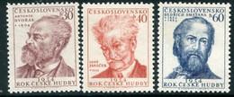 CZECHOSLOVAKIA 1954 Music Year MNH / **.  Michel 864-66 - Unused Stamps