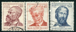 CZECHOSLOVAKIA 1954 Music Year Used.  Michel 864-66 - Used Stamps