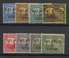 Wallis Et Futuna - 1920 - Taxe TT N°Yv. 1 à 8 - Série Complète - Neuf * / MH VF - Portomarken