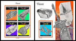 S. TOME & PRINCIPE 2021 - Fossils, M/S + S/S. Official Issue [ST210404] - Preistorici