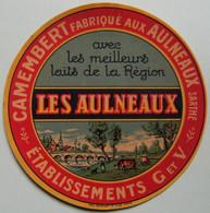 Etiquette Camembert - Les Aulneaux - Fromagerie G&V Aux Aulneaux 72 Maine - Sarthe  A Voir ! - Cheese