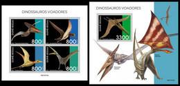 GUINEA BISSAU 2021 - Pterosaurs, M/S + S/S. Official Issue [GB210310] - Preistorici