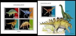 GUINEA BISSAU 2021 - Dinosaurs, M/S + S/S. Official Issue [GB210309] - Preistorici