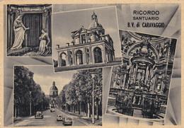 CARAVAGGIO (BERGAMO) CARTOLINA - RICORDO B.V. DI CARAVAGGIO - DESTINATA PER MONICO AL SERIO (BG) - Bergamo