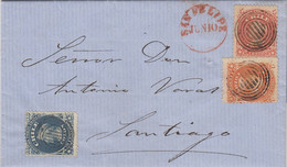 LETTRE. CHILI. 10 JUN 1886. SAN FELIPE POUR SANTIAGO - Cile