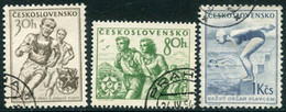 CZECHOSLOVAKIA 1954 Sport Used.  Michel 856-58 - Used Stamps