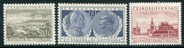 CZECHOSLOVAKIA 1954 Death Of Stalin And Gottwald MNH / **  Michel 853-55 - Unused Stamps