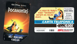 TELECOM ITALIA - C.& C. 2524 - W.DISNEY: POCAHONTAS    - USATA - Pubbliche Speciali O Commemorative