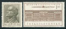 CZECHOSLOVAKIA 1954 Lenin Death Anniversary MNH / **  Michel 844-45 - Unused Stamps
