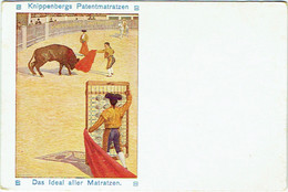 Publicité. Illustrateur : SCHEFFLER, H. Knippenbergs Patentmatratzen. Toréador. Corrida. - Publicidad