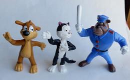 3 FIGURINES PIF YOLANDA 1991 - PIF HERCULE AGENT DE POLICE (2) - Altri