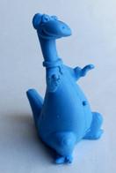 TRES RARE FIGURINE PIERRAFEU 20 - FLINTSTONE RUBBER - GOMMES 1970's Monochrome Bleu - Altri