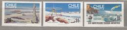 CHILE 1985 Antarctic Treaty MNH(**) Mi 1088-1090 #31645 - Cile