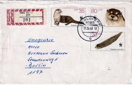 DDR  1987  WWF  POSTALSTATIONARY  USED    RRRRRRRRRR    WWF - Briefe U. Dokumente