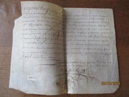 23 AOUT 1677 PARCHEMIN PARDEVANT NOUS PRESIDENT TRESORIER DE FRANCE ET GENERAUX DES FINANCES EN LA GENERALITE....... - Manuscripts