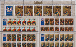 Cook Islands 01/15.12.12.1975 SHEETS Mi # 469-73, Christmas, Paintings By Raphael, Murillo Etc MNH OG - Cookinseln