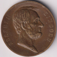 ABRAHAM LINCOLN , COMMEMORATIVE MEDAL - Royal/Of Nobility